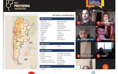 Se realizó la primera charla virtual de la Red Protierra Argentina